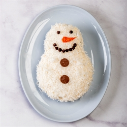 Picture of Snowman Coconut Cake